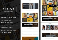 Baewe-作品集展示多用途自适应Bootstrap网站html模板