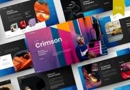 Crimson-渐变时尚商务风销售工作汇报Google Slides模板