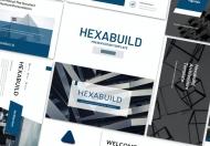 Hexabuild-蓝色简约建筑行业投标书Google幻灯片模板