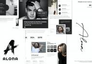 Alona-A4 黑白色极简主义Google幻灯片