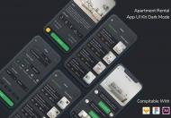 公寓出租应用程序UI套件深色模式