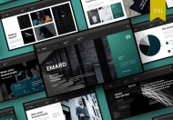 Emard-商业暗色高端大气Google幻灯片模板