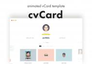cvCard-动画加载自适应个人简历网站html模板