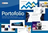 Portofolio-创意几何图形艺术PPT模板