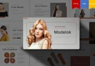 极简文艺风格摄影模特服装展示企业宣传PPT模板
