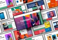 Felman-现代大气摄影展示商业PowerPoint模板