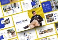 Coworked-蓝色清爽商务办公室行政人事PowerPoint模板