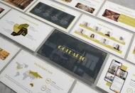 Goldario-珠宝摄影杂志艺术类PPT模板