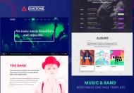 Duotone-音乐与乐队响应式html5网站模板