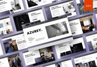 Azurey –简约商业计划书公司介绍宣传PPT模板