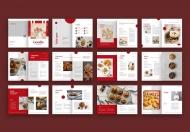 食谱美食手册食品画册排版美食画册