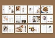 简约甜品美食画册设计模板