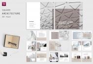 简约商务公司企业宣传册工作室广场建筑手册