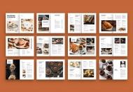 西餐点心美食画册设计模板