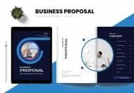 简约时尚企业商业计划书整套宣传画册模板