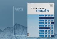 蓝色简约大气高端建筑杂志画册模板