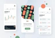 财务货币金融理财APP UI Kit设计模板