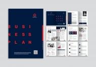 公司企业画册扁平化宣传文化简约商务