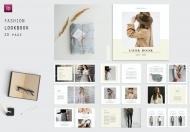 方形Lookbook简约设计杂志模板