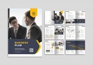 简约风时尚大气项目计划书企业画册