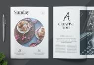 简约时尚高端大气杂志封面排版设计模板