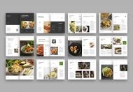 美食企业宣传画册手册模板