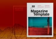 现代简约清新大气时尚杂志设计模板