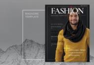 时尚现代人物杂志宣传画册模板