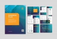 金融理财商业计划书画册设计模板