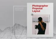 简约时尚摄影提案宣传画册模板