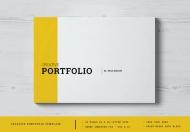 创意作品集排版画册设计模板