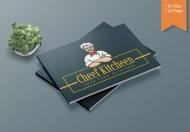厨师厨房-A5 美食宣传手册模板
