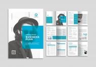 简约时尚蓝色产品商业画册设计模板