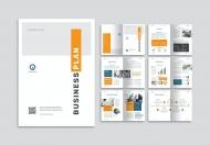 大气公司介绍商业计划书整套宣传画册模板