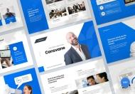 蓝色简洁业务咨询公司介绍keynote模板
