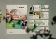 简约商务公司企业文化宣传画册模板