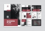 简约风时尚大气项目计划书企业画册模板