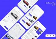 现代便捷的租赁汽车平台app UI Kit设计模板