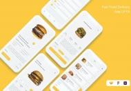 汉堡快餐外卖app应用界面设计模板