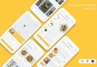 烹饪和外卖送餐APP ui kit设计模板
