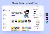Mytones-简约的音乐播放器软件界面设计模板