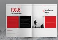 瑞士风格红色宣传册设计模板