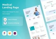 医疗登陆页面网页设计模板