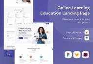 在线学习教育登陆页面网页设计模板