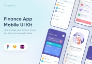 Uixasset-简约风格的金融app UI kit 设计模板