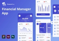 极简的财务金融app UI Kit应用界面设计模板