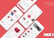 时尚现代的衣物服饰电商 APP UI kit设计模板
