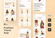 Kiera-时尚趋势APP UI Kit设计模板