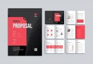 红黑色大气简约企业宣传画册模板