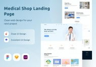 医疗商店登陆网站页面设计模板